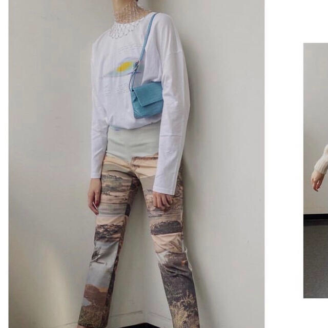 BEAUTY&YOUTH UNITED ARROWS(ビューティアンドユースユナイテッドアローズ)のpaloma wool グラフィックパンツ ⭐︎GW限定値下げ⭐︎ レディースのパンツ(カジュアルパンツ)の商品写真