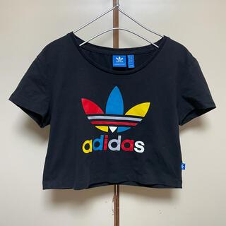 adidas - adidas アディダス ショート丈Tシャツ 黒
