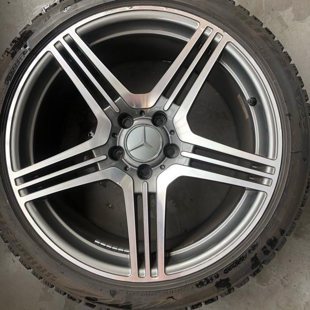 BRIDGESTONE(ブリヂストン)のw211 w219 AMGタイプ ベンツ ホイール 245 40 18 vrx2 自動車/バイクの自動車(タイヤ・ホイールセット)の商品写真