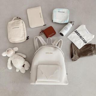 ALEXIA STAM - ALEXIASTAMEco Leather Logo Backpack ホワイト