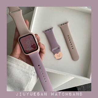 Apple watch 用 シリコン 2色 交換バンド 38mm 40mm