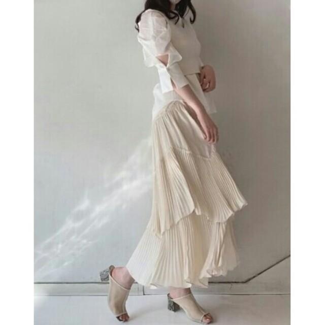 snidel(スナイデル)のティアードフリルスカート レディースのスカート(ロングスカート)の商品写真