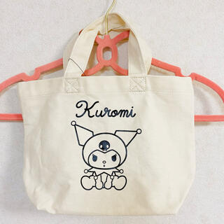 しまむら サンリオ クロミ キャンバス ミニトートバッグ トート 鞄(キャラクターグッズ)