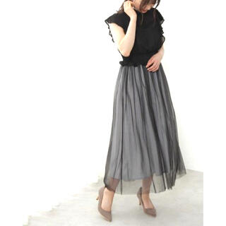 プロポーションボディドレッシング(PROPORTION BODY DRESSING)の新品✨タグ付き♪定価20900円 華やかなチュールワンピース サイズ2S 大特価(その他)
