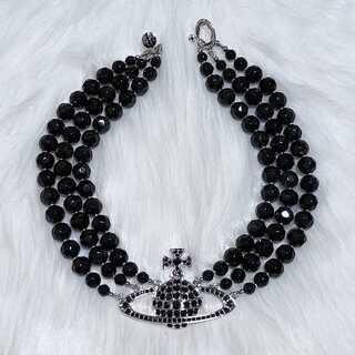 Vivienne Westwood - ヴィヴィアンウエストウッド パール 三連 ネックレス ブラック
