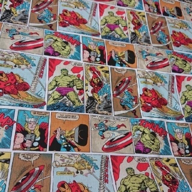 MARVEL(マーベル)のMARVEL コミック生地 はぎれ 113×175 ハンドメイドの素材/材料(生地/糸)の商品写真