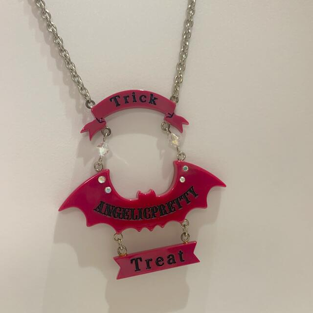 Angelic Pretty(アンジェリックプリティー)のアンジェリックプリティ コウモリ ネックレス BAD ハロウィン レディースのアクセサリー(ネックレス)の商品写真