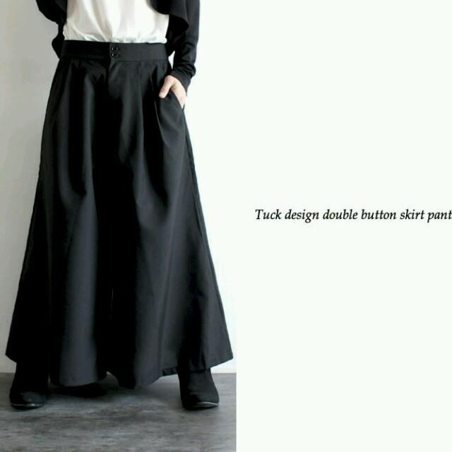 最新作スカンツ黒 スカートパンツ黒 ワイドパンツ黒 ビッグパンツ黒 メンズのパンツ(その他)の商品写真