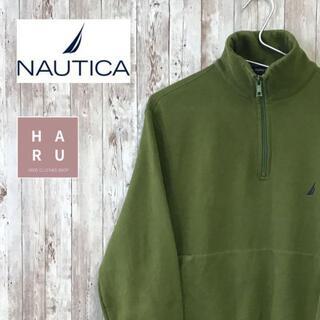 ノーティカ(NAUTICA)のNAUTICA ノーティカ ハーフジップフリーストレーナー グリーン 緑(スウェット)