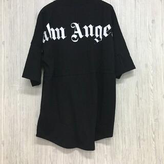 パーム(PALM)のpalm angels ネックロゴTシャツ M(Tシャツ/カットソー(半袖/袖なし))