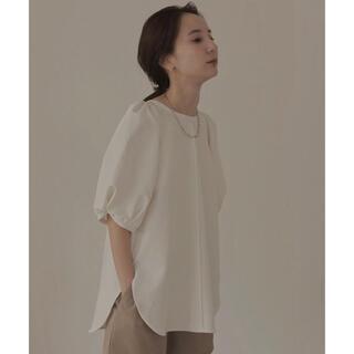 louren  puff sleeve over blouse ホワイト