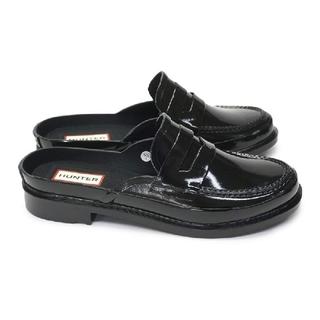 ハンター(HUNTER)の連休値下げ!新品未使用ハンター バックレス ペニー ローファー23cm ブラック(ローファー/革靴)