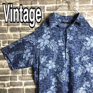 ジョージコックス(GEORGE COX)のアロハシャツ 古着 ゆるだぼ レーヨン ビッグサイズ 90s ボタニカル h32(シャツ)