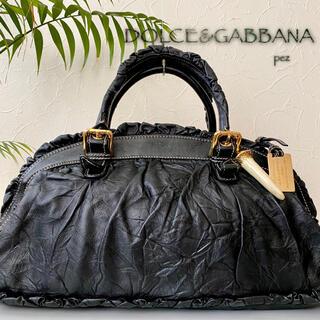 ドルチェアンドガッバーナ(DOLCE&GABBANA)の極美品 DOLCE&GABBANA 定約16万 レザーハンドバッグ(トートバッグ)