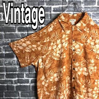 ジョージコックス(GEORGE COX)のアロハシャツ 古着 レーヨン ボタニカル ビッグサイズ 90s ゆるだぼ h21(シャツ)