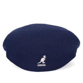 カンゴール(KANGOL)のKANGOL メッシュハンチング帽ネイビー(ハンチング/ベレー帽)
