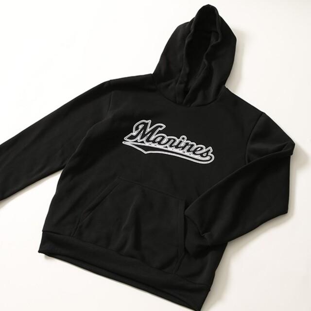 千葉ロッテ ブラックパーカー スポーツ/アウトドアの野球(記念品/関連グッズ)の商品写真
