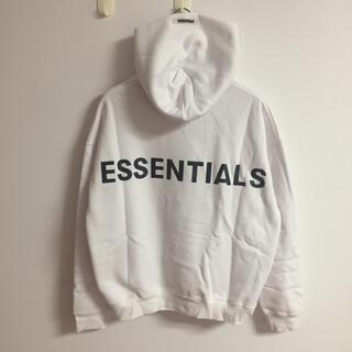 エッセンシャル(Essential)のサイズM白  fogessentialsパーカー(パーカー)