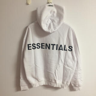エッセンシャル(Essential)のサイズL白 fogessentialsパーカー(パーカー)