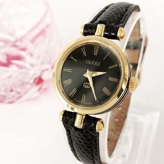 Gucci - ⭐1ヶ月保証 綺麗 グッチ シェリー 新品レザー レディース腕時計 着物 極美品