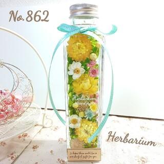 ハーバリウム No.862 グリーンボタニカル イエロー(その他)