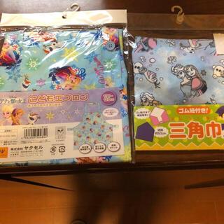 ディズニー(Disney)の子供エプロン100-110cm, 三角巾 2つセット Disney プリンセス(ファッション雑貨)