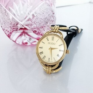 Gucci - ⭐1ヶ月保証 綺麗 グッチ 新品ベルト 腕時計レディース ローマン 着物 極美品