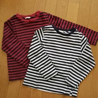 GU - GU 長袖ボーダーシャツ2枚 110