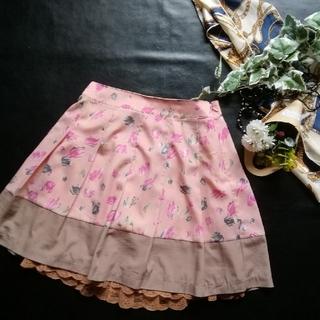 エルディープライム(LD prime)のLDプライム♡レースつき花柄スカート(ミニスカート)