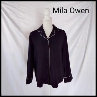 Mila Owen - ミラオーウェン パイピングシャツ フリーサイズ ネイビー レディース