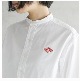 DANTON - DANTON バンドカラーシャツ 36