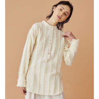 STUDIOUS - 新品INella イネラ 2WAYストライプフリンジシャツ white