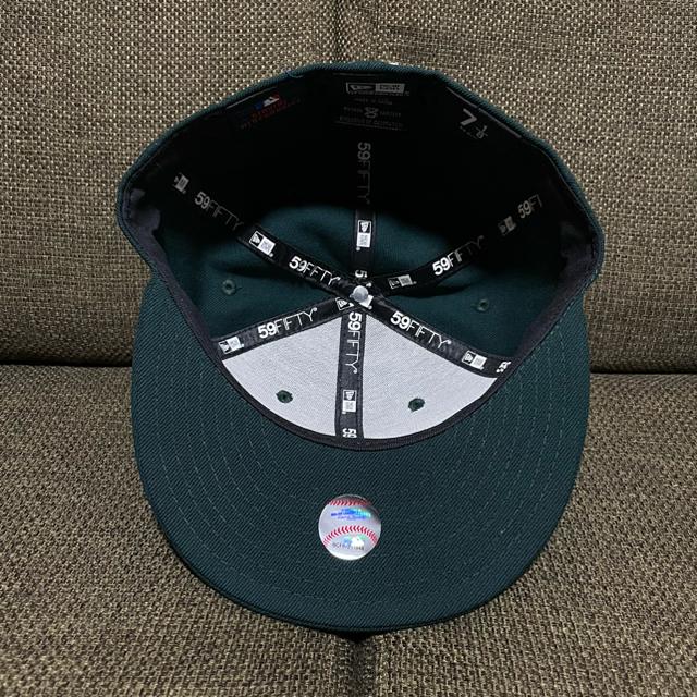 NEW ERA(ニューエラー)のNEW ERA FITTED キャップ ヤンキース ダークグリーン 7 1/8  メンズの帽子(キャップ)の商品写真