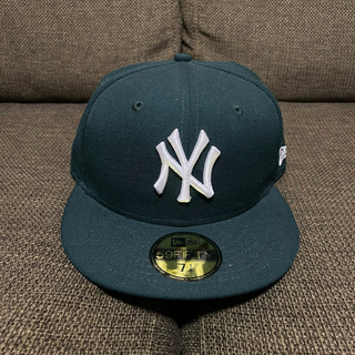 NEW ERA - NEW ERA FITTED キャップ ヤンキース ダークグリーン 7 1/8