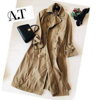 エーティー(A.T)のAT トレンチコート ロングコート ジャケット アウター レディース 春(トレンチコート)