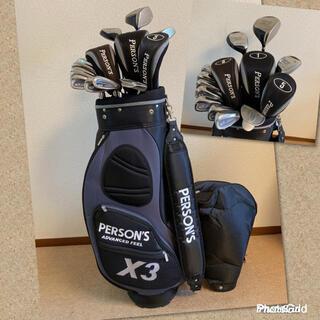 パーソンズ(PERSON'S)の人気‼️【超美品】ゴルフクラブセット/メンズ ゴルフセット/キャディバッグ付き(クラブ)