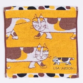 リサラーソン(Lisa Larson)のリサラーソン  三毛猫マイキー ミニタオル(ハンカチ)