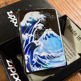 ジッポー(ZIPPO)の新品 Zippo 波富士 ブライトアート 和柄 ジッポー(タバコグッズ)