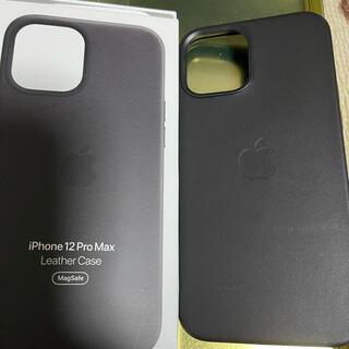Apple - iPhone12promax 純正レザーケース ブラック