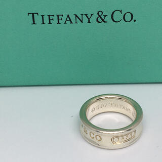 Tiffany & Co. - ティファニー ナローリング8号  シルバー