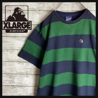 XLARGE - 【人気カラー】エクストララージ★ワンポイントゴリラロゴ ボーダー柄オシャレ