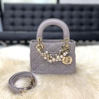 Christian Dior - 【レア】 美品 クリスチャンディオール レディディオール ミニ グレー
