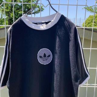 adidas - adidas アディダス 刺繍ロゴ tシャツ ブラック vintage