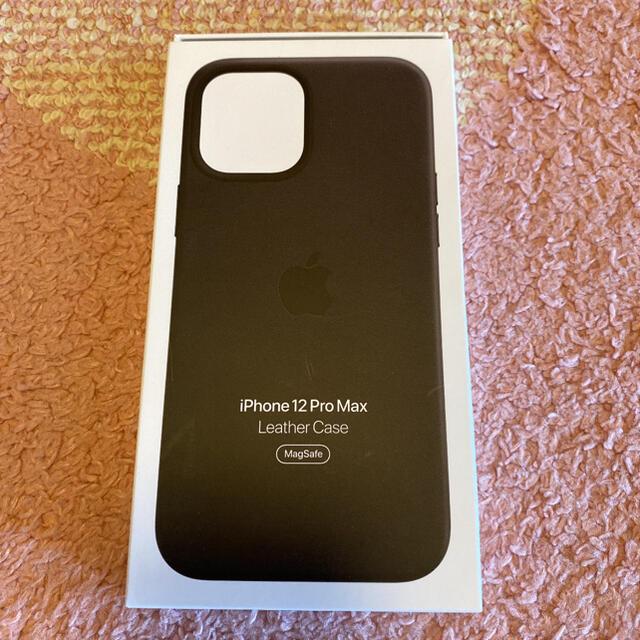 Apple(アップル)の純正 iPhone12ProMax レザーケース MagSafe スマホ/家電/カメラのスマホアクセサリー(iPhoneケース)の商品写真