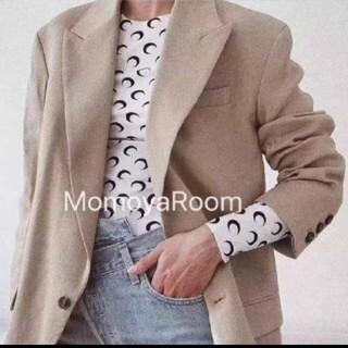 韓国 ファッション 三日月  エマ emma 白 新品 長袖 シャツ 重ね着 春