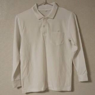 140 長袖ポロシャツ 白