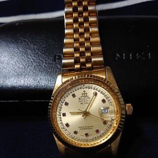エルジン(ELGIN)のELGIN DATE QUARTZ deluxe(腕時計(アナログ))