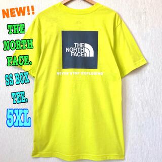 ザノースフェイス(THE NORTH FACE)の最大サイズ ♪ ノースフェイス BOX Tシャツ イエロー 黄色 5XL 4XL(Tシャツ/カットソー(半袖/袖なし))