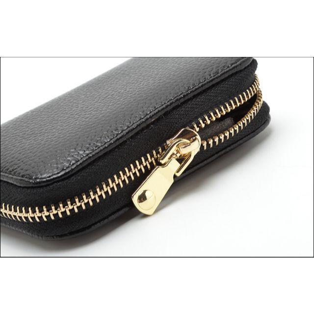 【大容量!!】本革カードケース じゃばら型 スキミング防止 ブラック レディースのファッション小物(名刺入れ/定期入れ)の商品写真