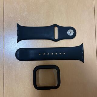 アップルウォッチ(Apple Watch)のApple watch series 5 保護 ケース ➕バンドブラック40mm(モバイルケース/カバー)